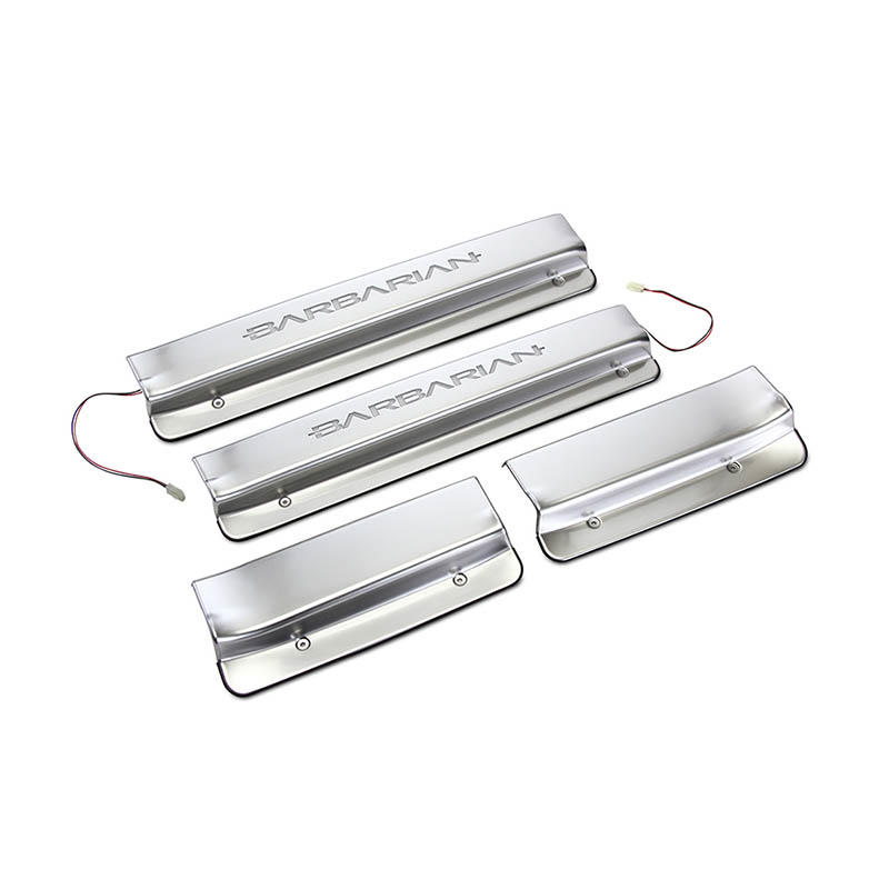 with led light auto door sill guards car manufacturers for van