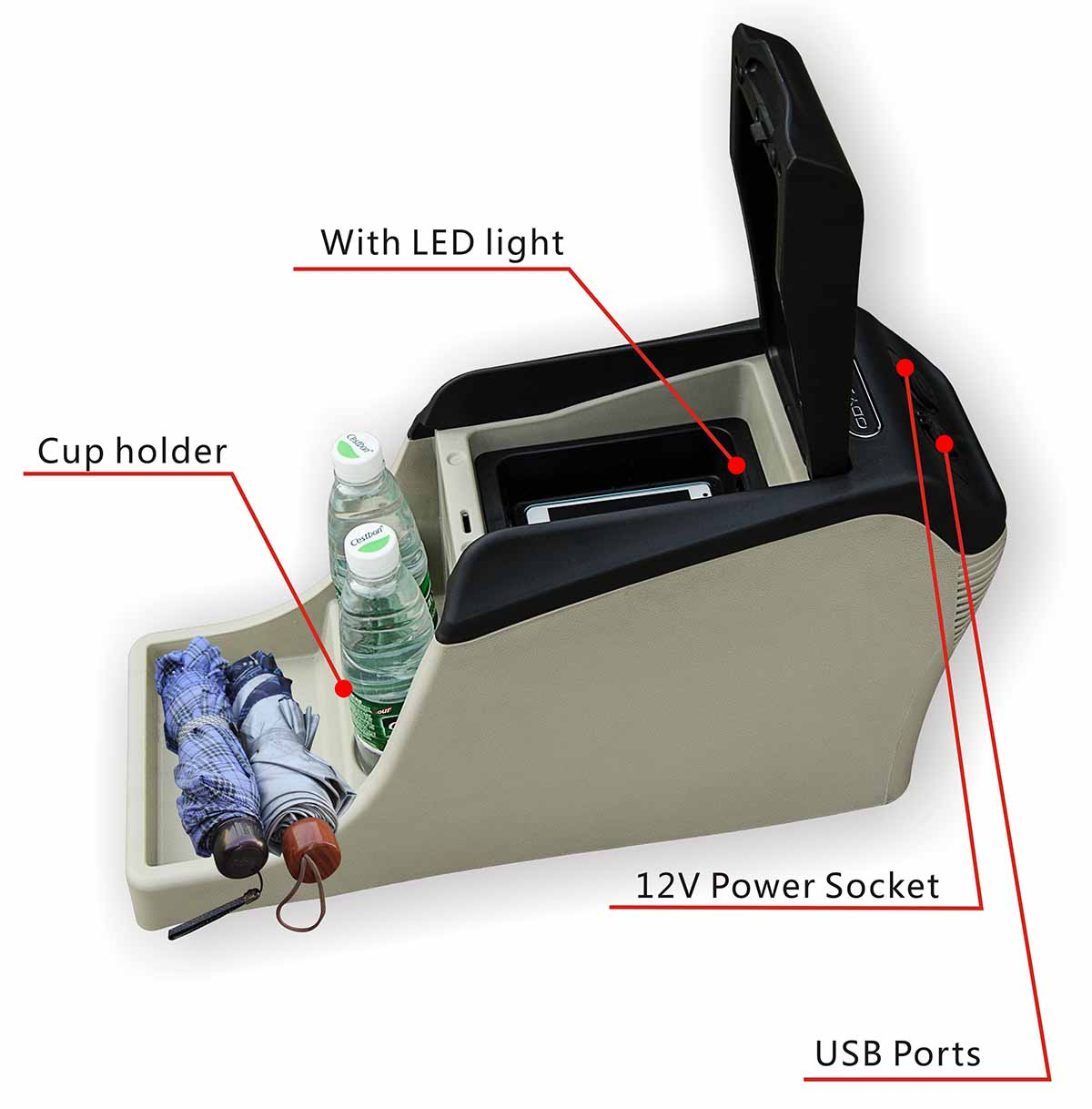 ShenHao with USB center console storage company for Honda Odyssey-3