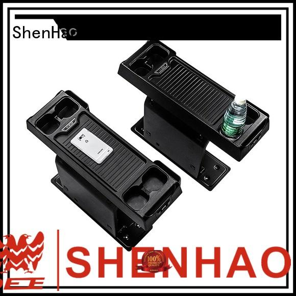 ShenHao special console organizer with USB for vehicle