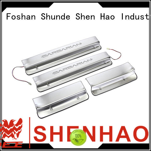 ShenHao l200 car door sills with led light for Mitsubishi