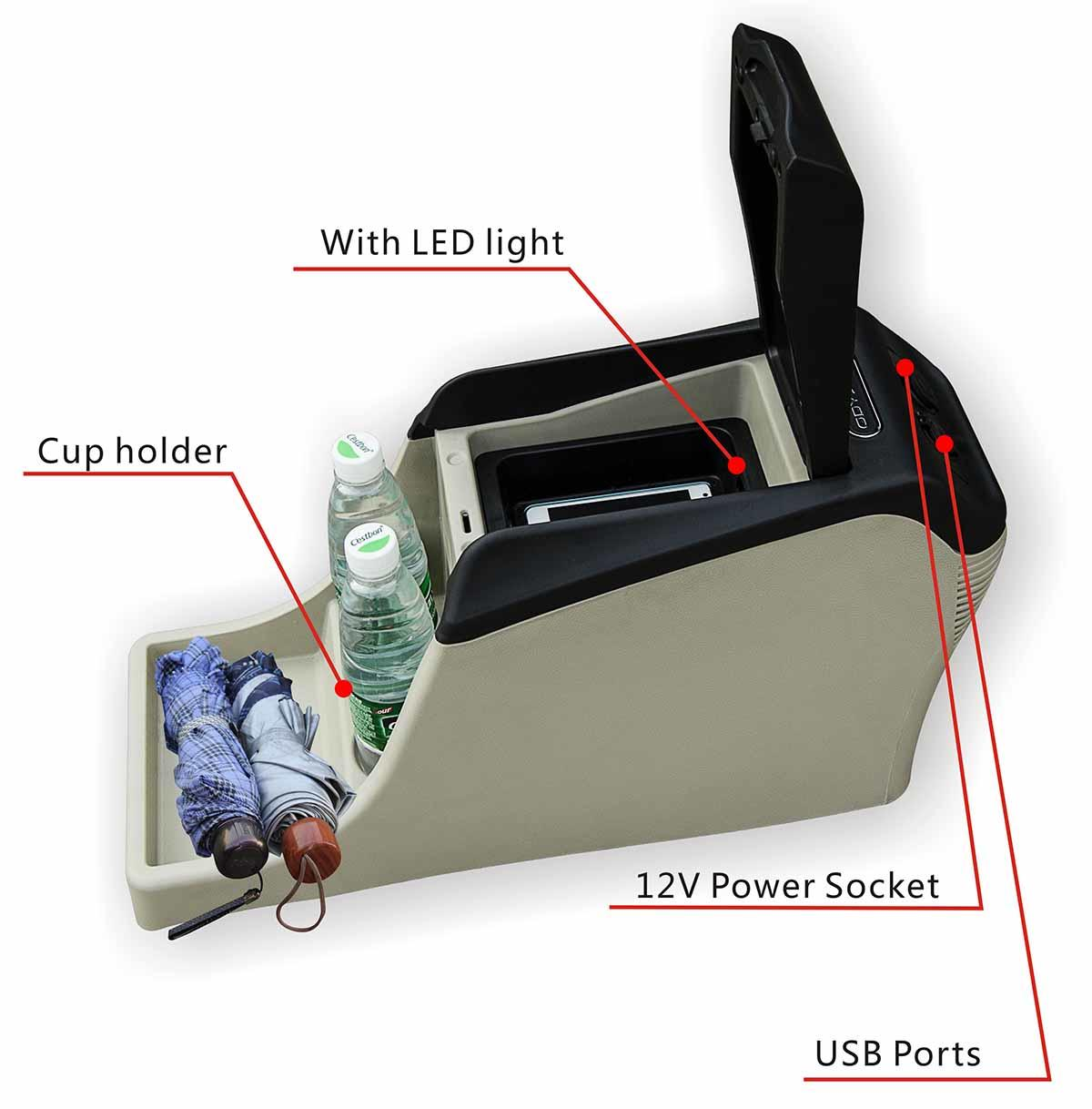 ShenHao light center console box with light for car-3