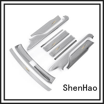 ShenHao with led light stainless steel car door sills factory for truck