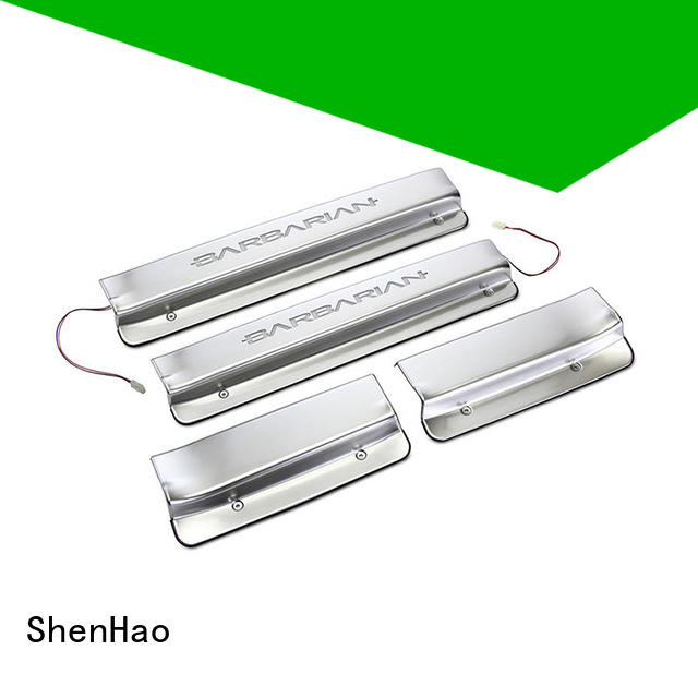 with led light stainless steel door sill plates product company For Renault