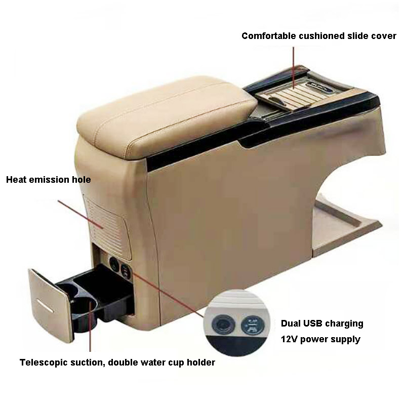 ShenHao foldable car armrest box for van-2